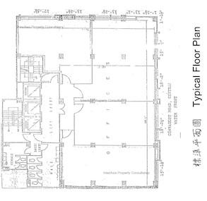 华懋大厦 -标准平面图