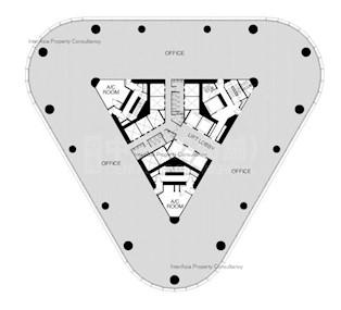 中信大厦 -标准平面图
