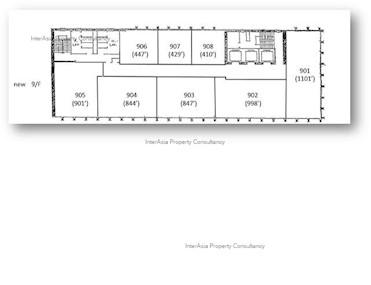 恒生尖沙咀大厦 -标准平面图