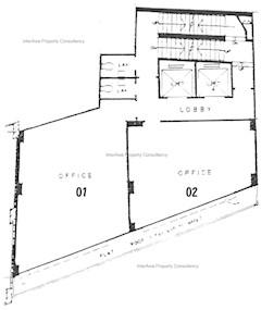 合成商业大厦 -标准平面图