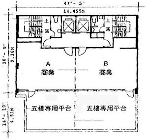 港佳商业大厦 -标准平面图