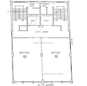 福兴大厦 -标准平面图