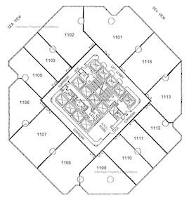 力宝中心 第2座-标准平面图