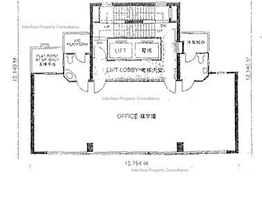 中晶商业大厦 -标准平面图