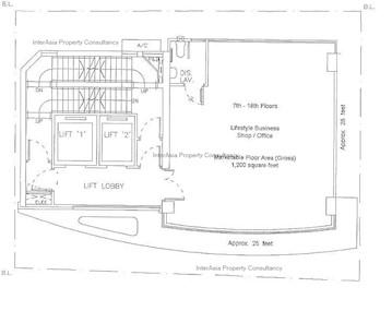巴力大厦 -标准平面图