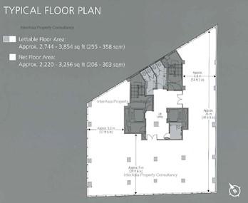 忠利集团大厦 -标准平面图