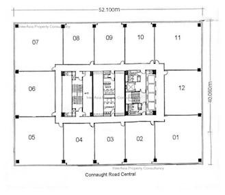 信德中心 西翼-标准平面图