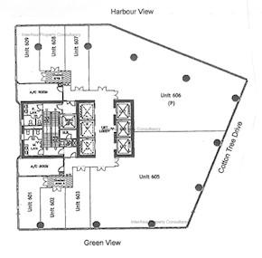 东昌大厦 -标准平面图