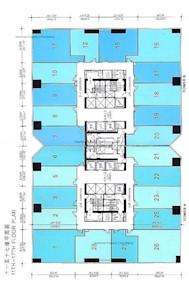 南汇广场 B座-标准平面图