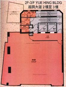 越兴大厦 -标准平面图