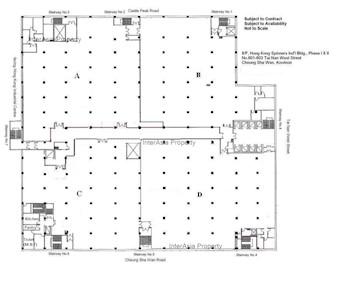 香港纱厂工业大厦1及2期 -标准平面图