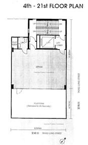 景隆商业大厦 -标准平面图