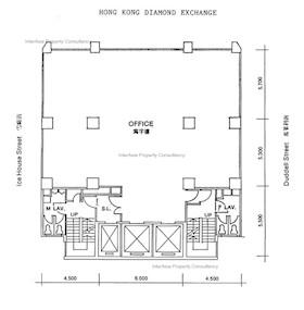 香港钻石会大厦 -标准平面图