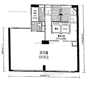 一洲大厦 -标准平面图
