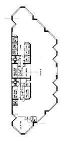 渣打银行大厦 -标准平面图