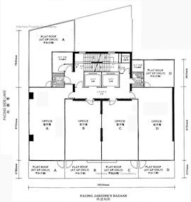 富盛商业大厦 -标准平面图