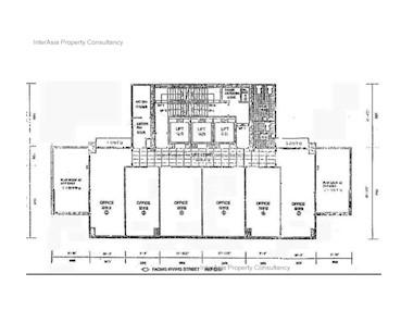 欣荣商业大厦 -标准平面图