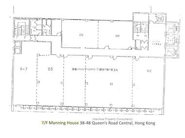 万年大厦 -标准平面图
