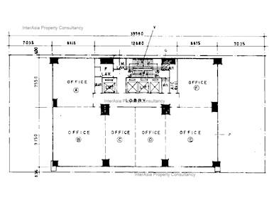 祥丰大厦 -标准平面图