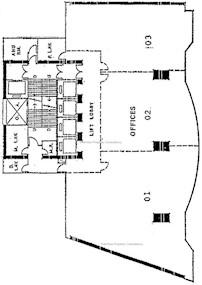 中粮大厦 -标准平面图