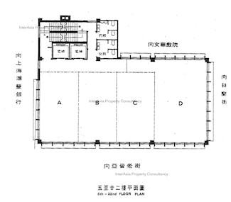 旺角商业大厦 -标准平面图