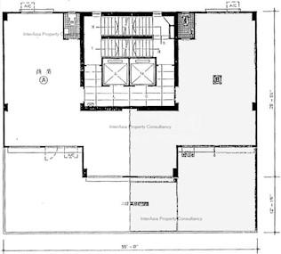 信邦商业大厦 -标准平面图