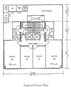 信和财务大厦 -标准平面图