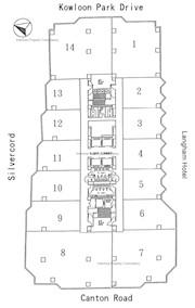 力宝太阳广场 -标准平面图