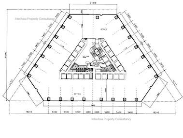 利园大厦 -标准平面图