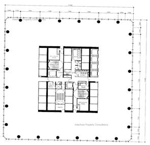 长江集团中心 -标准平面图