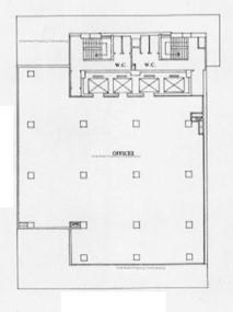 华人银行大厦 -标准平面图