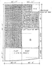 万祥大厦 -标准平面图