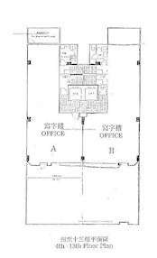 云龙商业大厦 -标准平面图