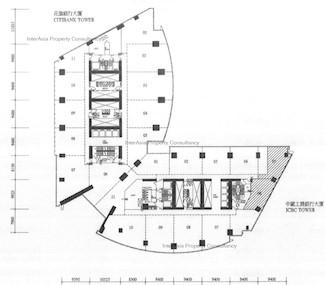 中国工商银行大厦 -标准平面图