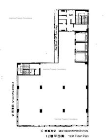 盘谷银行大厦 -标准平面图