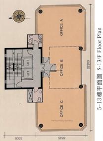中华大厦 -标准平面图