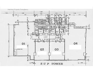 联合出版大厦 -标准平面图