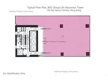 中银集团人寿保险大厦 -标准平面图
