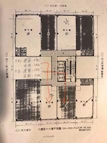 中央大厦 -标准平面图
