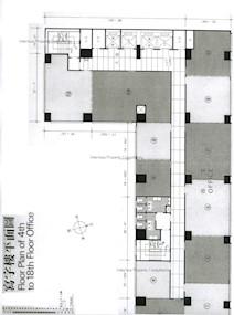 威胜商业大厦 -标准平面图