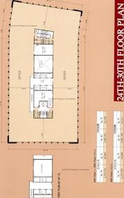 胡忠大厦 -标准平面图